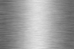 Brushed aluminum plate 1 Royalty Free Stock Photo