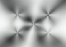 Brushed aluminum with radial reflections Royalty Free Stock Images