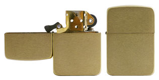 Brushed Brass Lighter Stock Images