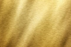 Brushed brass texture Stock Images