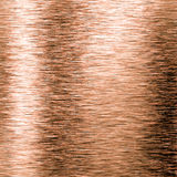 Brushed copper metal plate Stock Photo