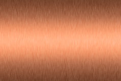 Brushed copper plate Royalty Free Stock Photos