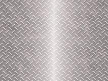 Brushed diamond plate Stock Image
