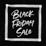 Black Friday Sale Paper Crease Card royalty free stock photography