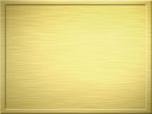 Brushed gold metal plaque Stock Photography