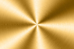 Brushed gold metal plate Royalty Free Stock Image