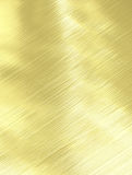 brushed gold metal texture Stock Image