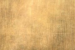 Brushed gold metal texture. Polished metal texture background with light reflection vector illustration
