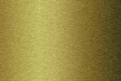 Brushed gold metallic plate Stock Photo