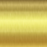 Brushed gold plate texture Stock Photography