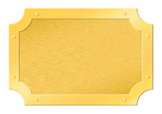 Brushed golden framed tablet Stock Images