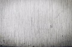 Brushed ha graffiato la struttura del primo piano dell'acciaio inossidabile Immagine Stock