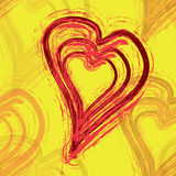 Brushed Hearts Seamless Royalty Free Stock Photography