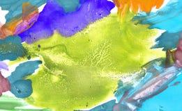 Brushed m?lade abstrakt bakgrund Sol- och molnbakgrund med en pastell f?rgade royaltyfria foton