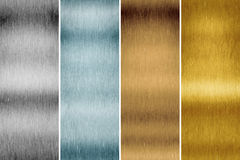 Brushed metal. An image of a brushed metal plate background Stock Photo