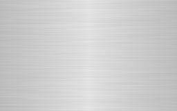Brushed Metal. A sheet of rendered brushed steel or metal in gray stock illustration
