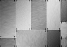 Brushed metal abstract Royalty Free Stock Photo