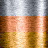 Brushed Metal Aluminum Copper Gold Stock Images