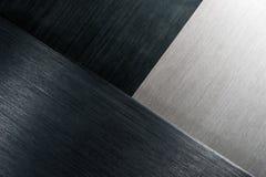 Brushed metal angles Stock Image
