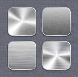 Brushed metal app icon templates 2 Royalty Free Stock Image