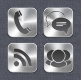 Brushed metal app icon templates Stock Photography