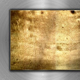 Brushed metal background. Place for your content Royalty Free Stock Photos