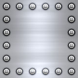 Brushed metal background Stock Images