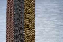 brushed metal chains background Royalty Free Stock Images