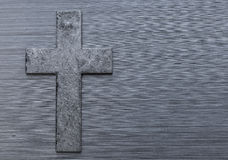 Brushed metal christian cross background Royalty Free Stock Photography