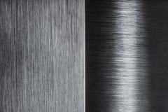 Brushed metal contrast design Stock Image