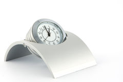 Brushed Metal Designer Clock Royalty Free Stock Photo