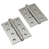Brushed metal door hinges Royalty Free Stock Images