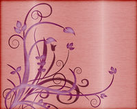Brushed metal with foliage vector Stock Photo