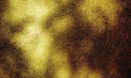 Brushed metal  golden textured background. Book page, paintings, printing, mobile backgrounds, book, covers, screen savers, web page, landscapes, greeting royalty free stock photo