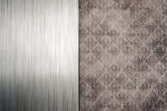 Brushed metal grungy wallpaper background Stock Image