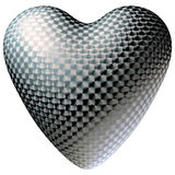 Brushed metal heart isolated Royalty Free Stock Image