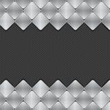 Brushed metal mosaics on texture background Stock Photos