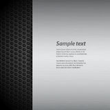 Brushed metal panel on black mesh with sample text Stock Photography