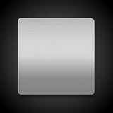 Brushed metal panel on black texture background Royalty Free Stock Photo