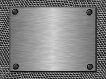 Brushed metal plate Stock Image