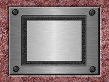 Brushed metal plate Royalty Free Stock Photography