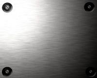 Brushed metal plate Stock Image