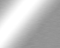 Brushed metal plate Stock Photography