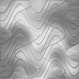 Brushed metal plate Stock Images
