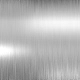 Brushed metal plate Royalty Free Stock Images