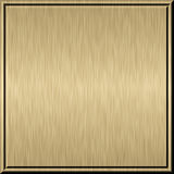 Brushed metal plate. Shiny brushed gold metal plate techno background Stock Illustration