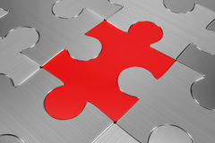 Brushed metal puzzle Stock Photography