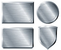 Brushed metal shapes Royalty Free Stock Photography