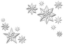 Brushed metal snowflakes Stock Photography
