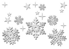 Brushed metal snowflakes Royalty Free Stock Photo